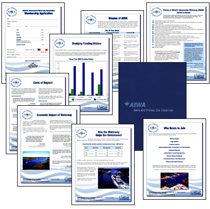Atlantic Intracoastal Waterway Association Membership Kit with handouts